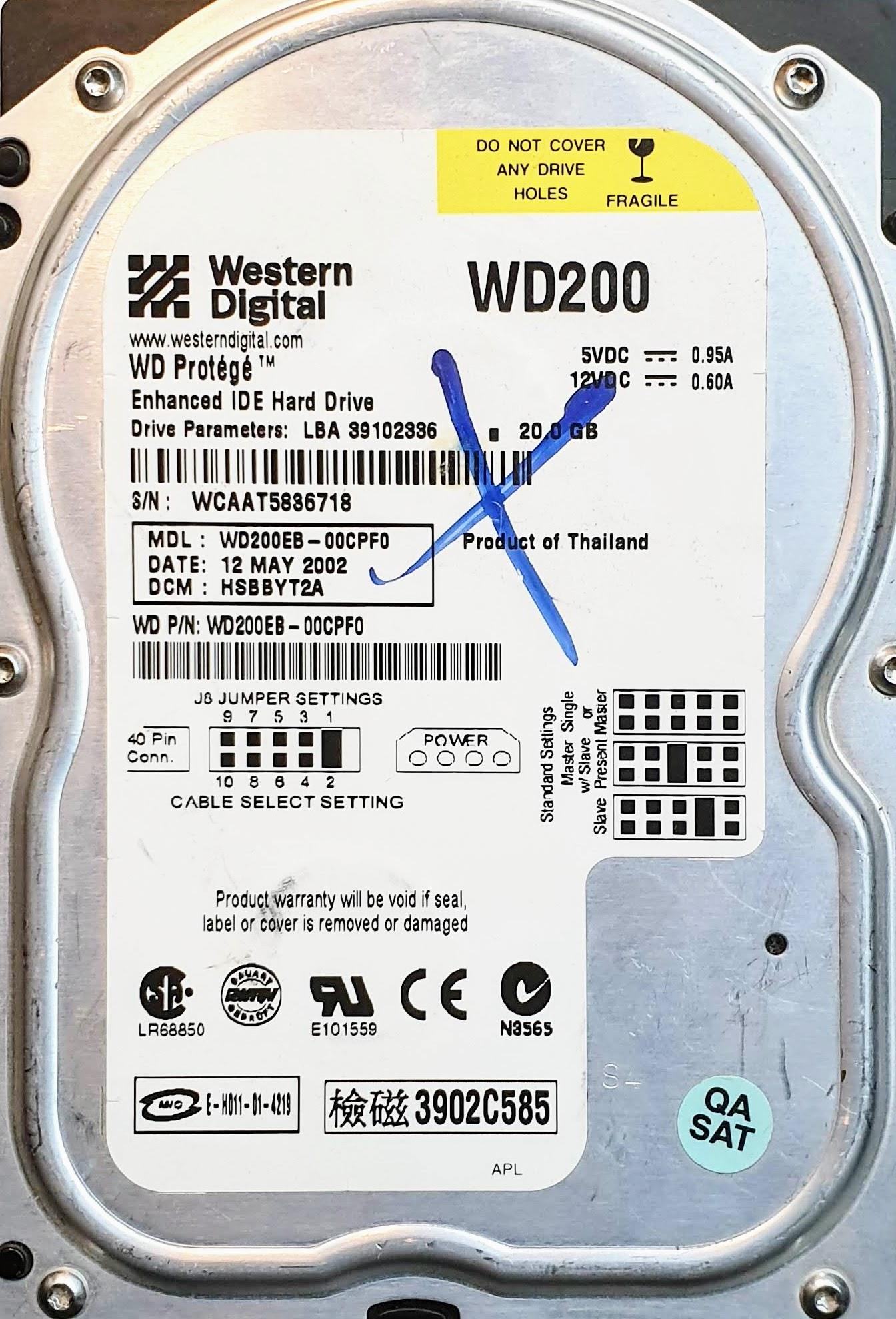Donor Western Digital Hard Drives and Western Digital PCBs