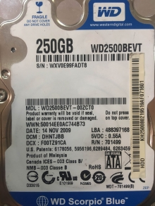 WD2500BEVT-00ZCT0