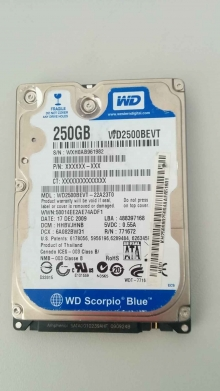 WD2500BEVT-22A23T0