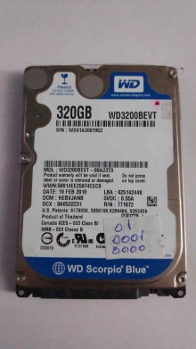 WD3200BEVT-00A23T0