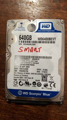 WD6400BEVT-00A0RT0
