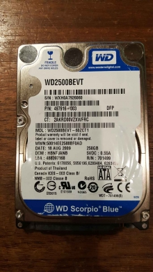 WD2500BEVT-60ZCT1