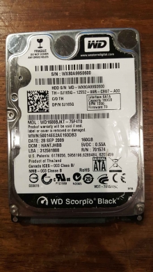 WD1600BJKT-75F4T0