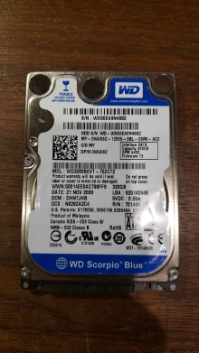 WD3200BEVT-75ZCT2